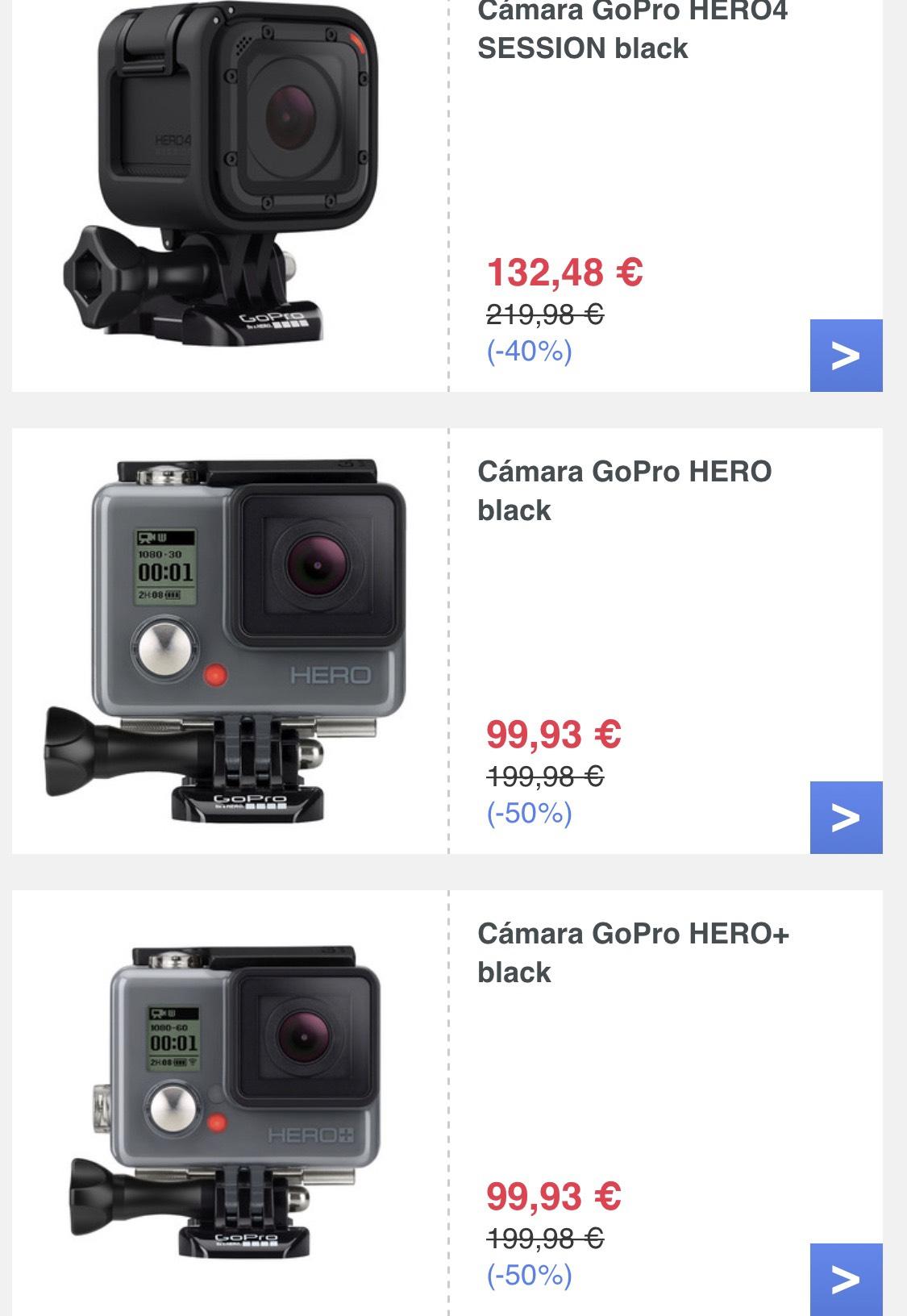 Artículos GoPro a un gran precio