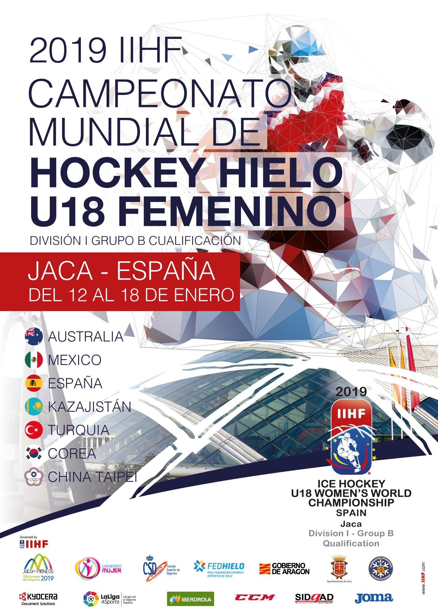 Entradas Gratuitas Mundial de Hockey Hielo U18 femenino en Jaca