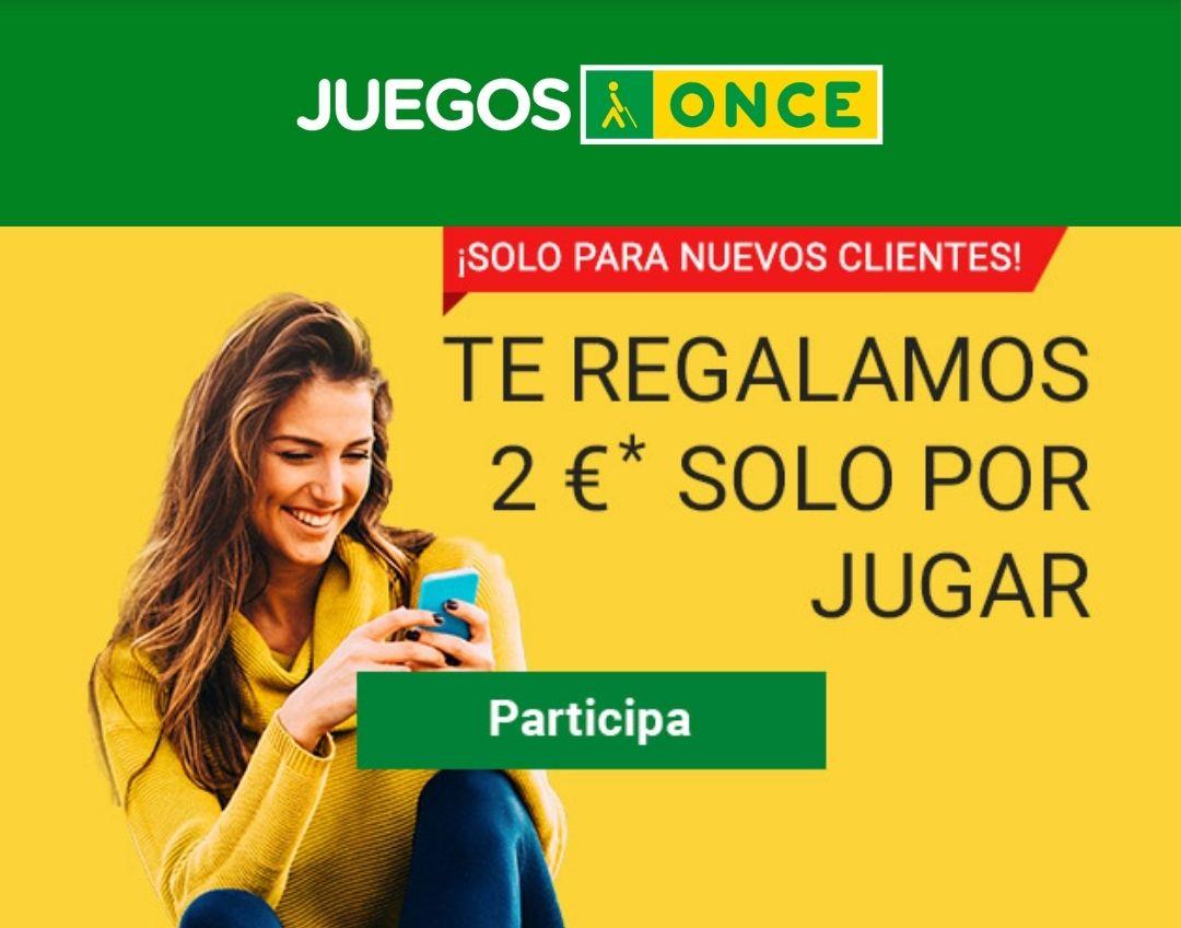 2€ gratis para jugar en los sorteos ONCE (mínimo 2€ de compra)