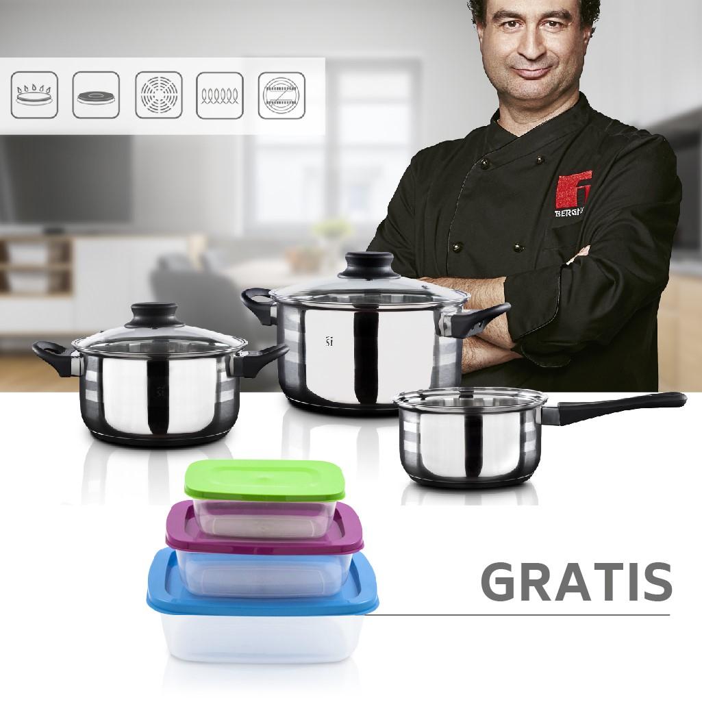 Batería de cocina 5 piezas San Ignacio + Fiambreras Gratis