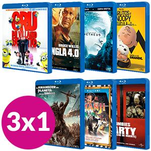 VUELVE el 3x1 en Blu-Ray