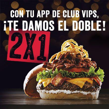 2x1 En cenas Fridays con la App clup Vips
