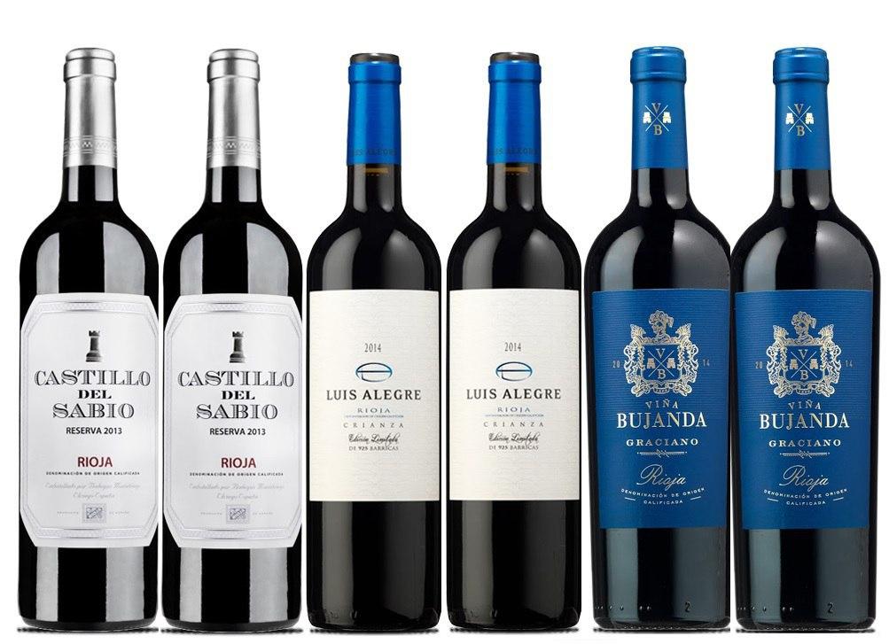 6x Vinos Tintos D.O.Ca. Rioja solo 39.5€