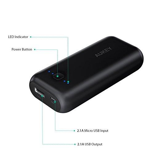 ¡Cuponazo 50%! Batería externa portátil Aukey de 5000 mAh sólo 4,99€