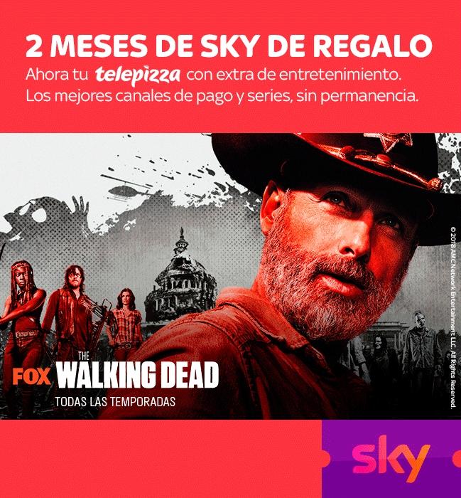 2 meses de Sky GRATIS con tu pedido de Telepizza de +15€