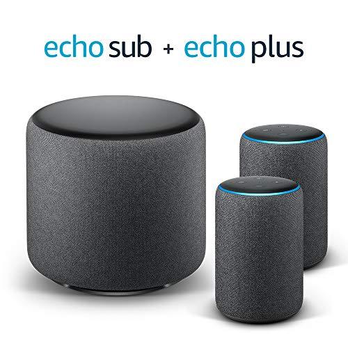 Echo Plus Stereo System – 2 Echo Plus (2.ª generación) + 1 Echo Sub