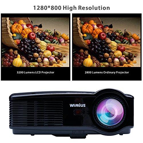 Proyector Video Portátil WIMIUS T4 HD [1280x800] 3200 Lum