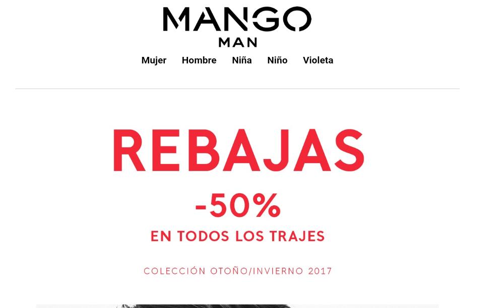 MANGO: 50% DTO. en todos los trajes (hombre)