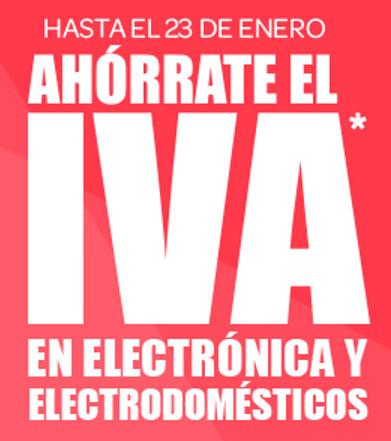 Carrefour (Hasta el 23/01): Ahórrate el IVA en Electrónica y Electrodomésticos