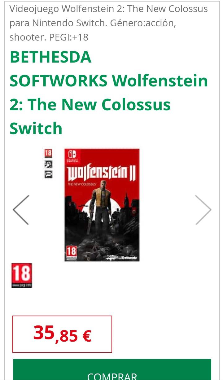 Wolfenstein II switch Alcampo Vigo