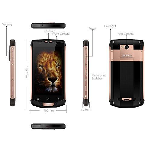 Blackview BV8000 Pro Teléfonos Móviles 6 + 64GB ROM - Android 7.0 Smartphone libre (Octa Core, 16MP Cámara, 4180mAh Batería, 5.0 pulgadas FHD pantalla, NFC, 4G) Impermeable/Antipolvos/Antigolpes Móviles libres - Oro