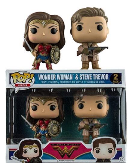 ¡2 funko pop Wonder Woman y Steve Trevor 15€! Producto plus