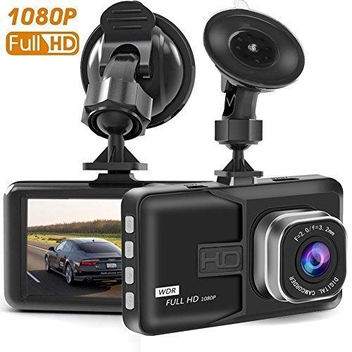 Dash CAM, cámara de salpicadero para Coches con Full HD 1080P 170 Grados