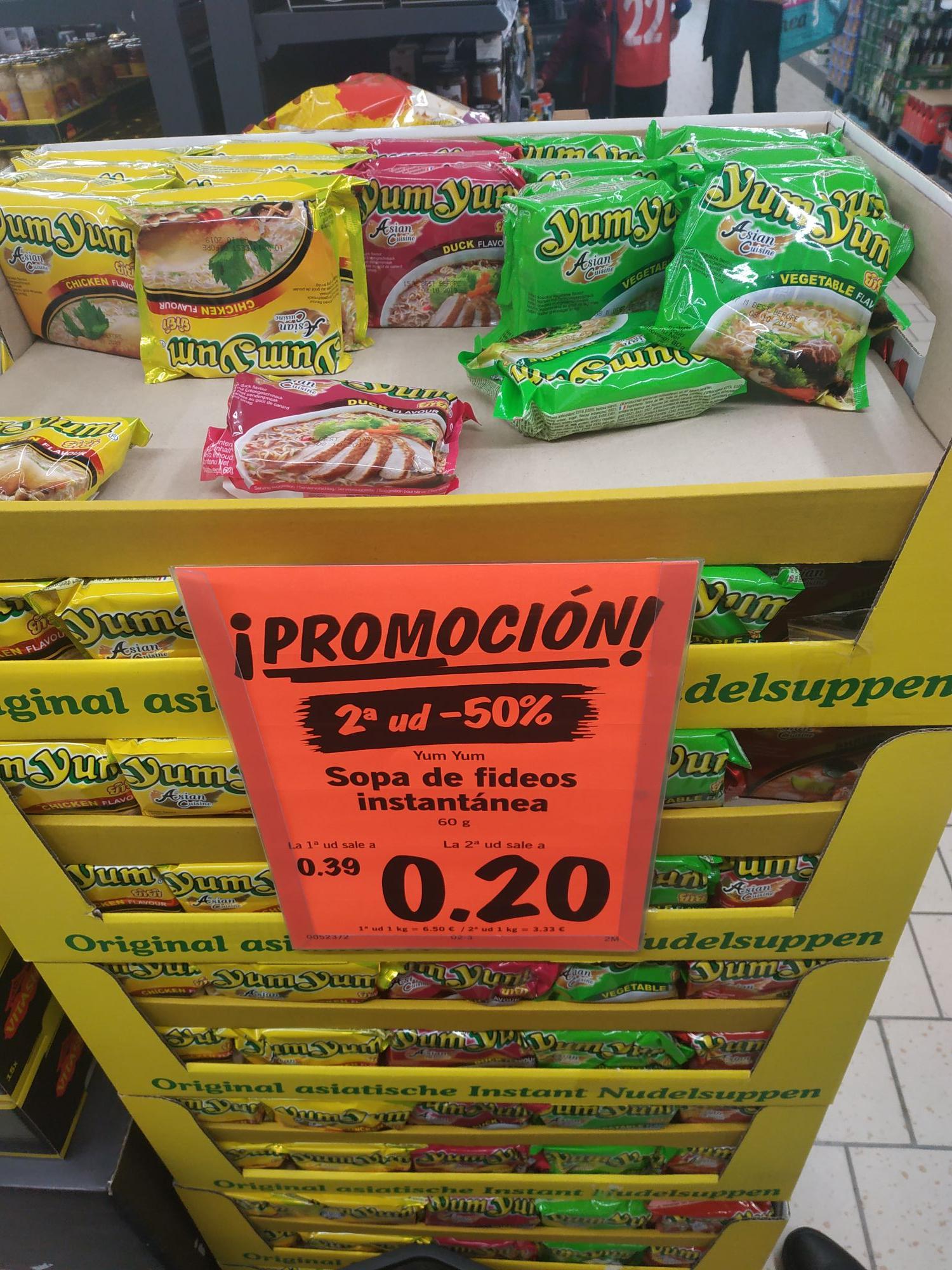 Noodles de Lidl tiraos de precio