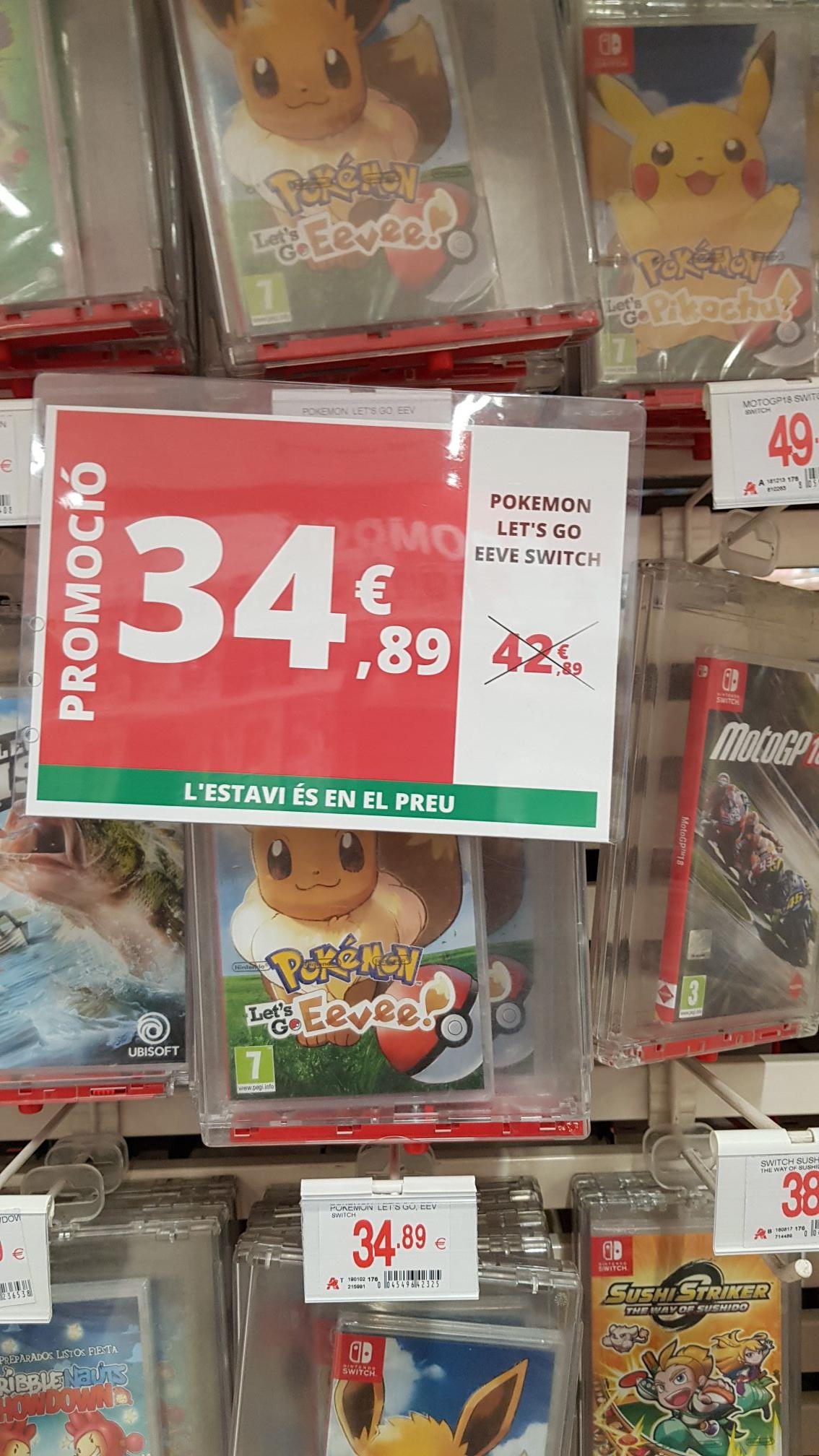 Pokemon let's go Evee nintendo switch Alcampo Mataro
