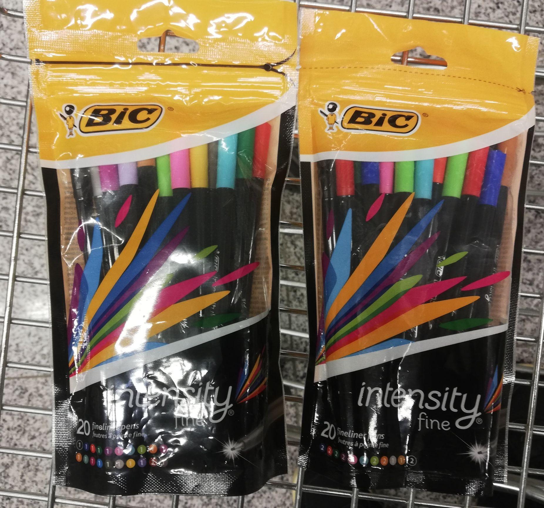 Pack de 20 rotuladores BIC fine por 3,99€