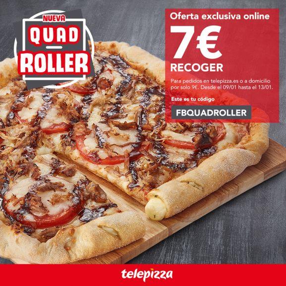 Nueva pizza QuadRoller de Telepizza