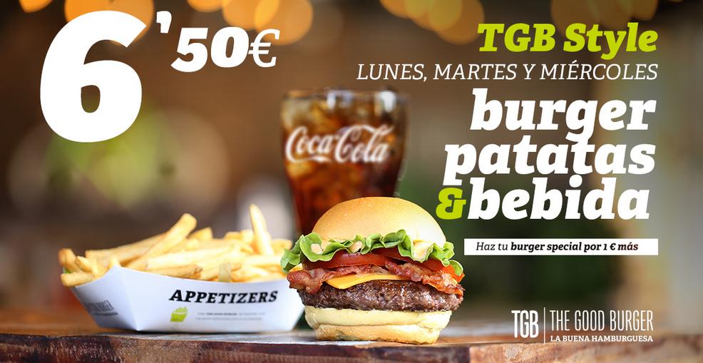 [TGB] Burger + papas + bebida