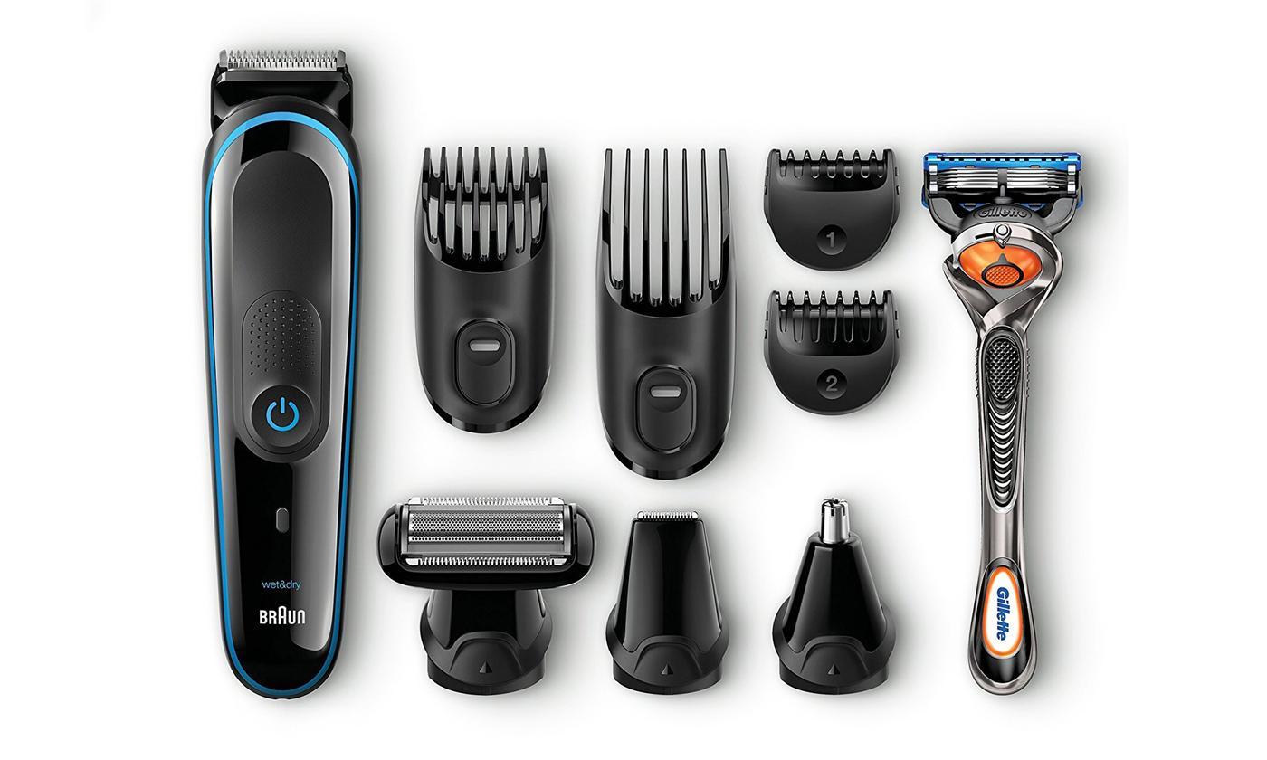 Braun 9 en 1 MGK3085 y maquinilla Gillette Fusion ProGlide