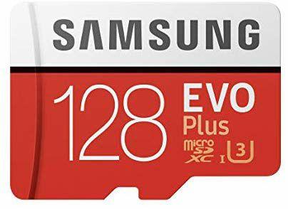 Tarjeta de memoria 128 GB Samsung Evo Plus + Adaptador