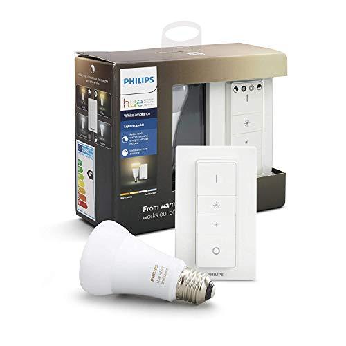 Philips Hue White Ambiance - Pack de bombilla LED E27 con mando