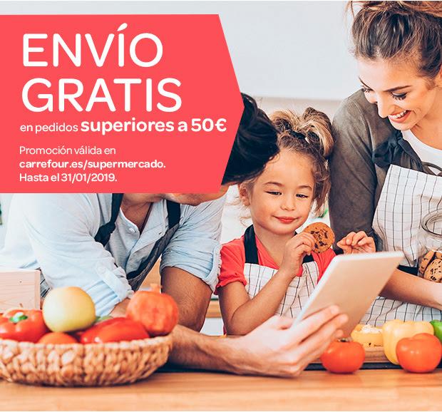 Carrefour: Envio gratis para pedidos de más de 50€