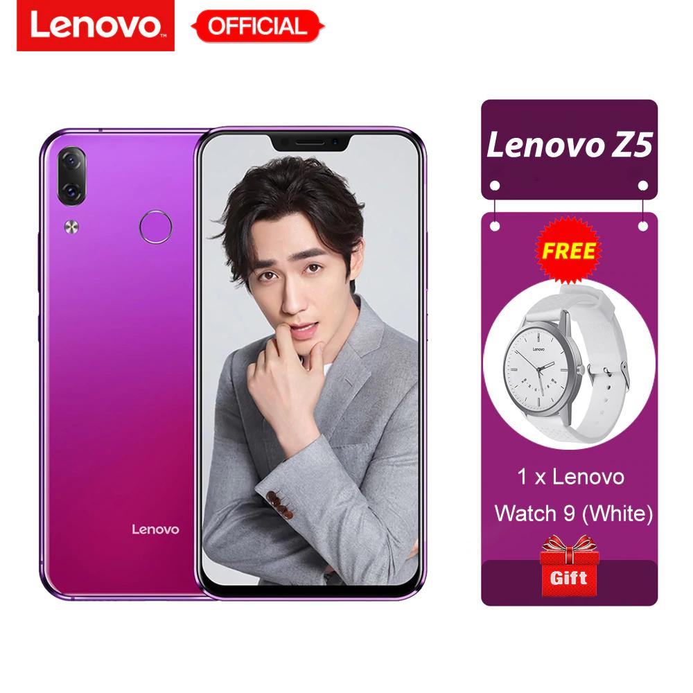 "Lenovo Z5 6 GB 64 GB Snapdragon 636 Octa Core teléfono móvil 19:9 Pantalla Completa 6,2 ""Android 8,1 16MP + 8MP trasera doble cámara"