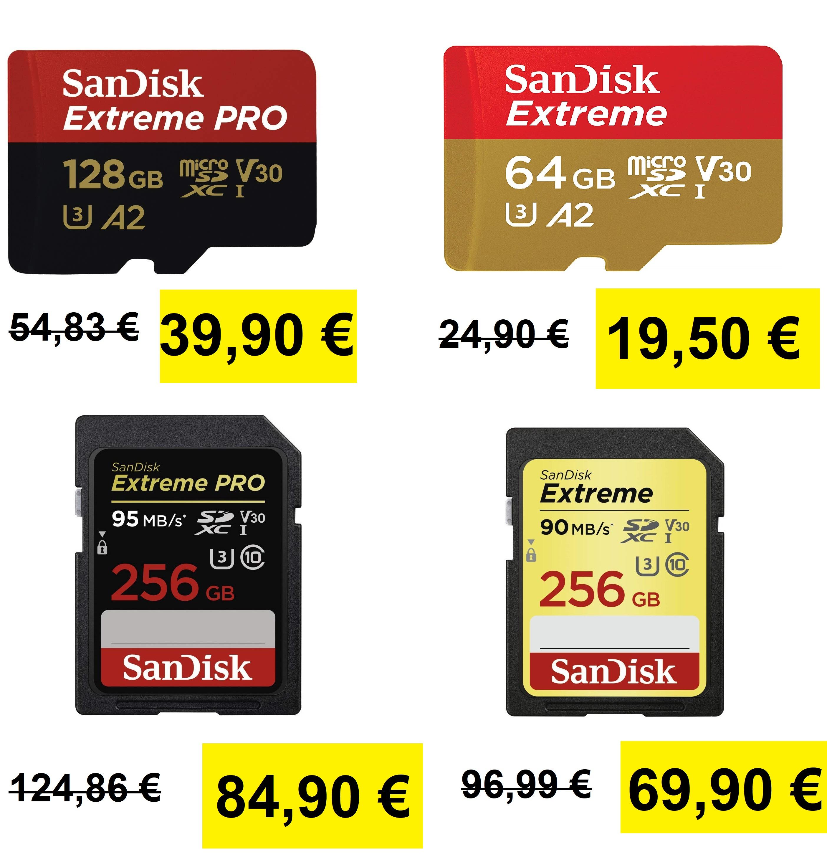 Oferta del día Tarjetas de Memoria SanDisk