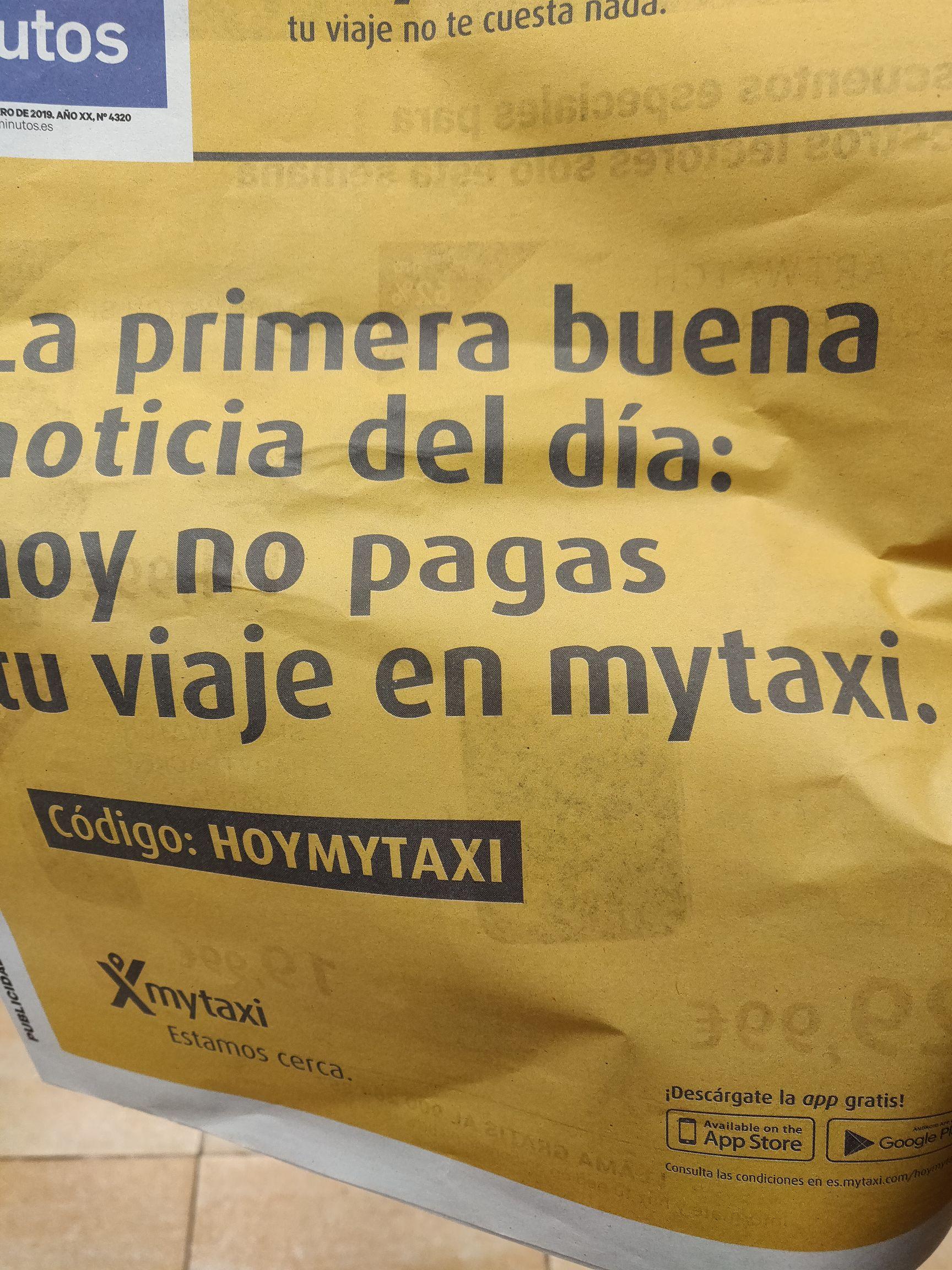 Viaje gratis en mytaxi
