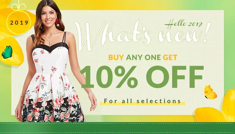 Código descuento del 10% en todos los productos en la tienda dresslily