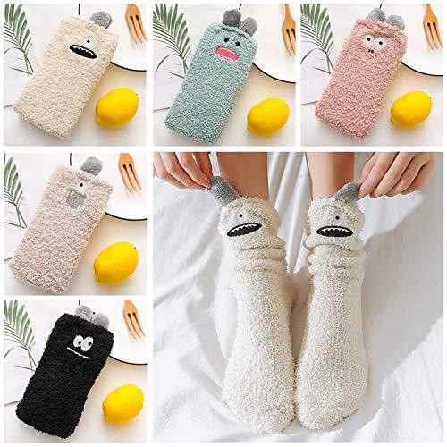 Pack de 5 calcetines de felpa de mujer
