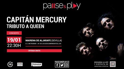 Concierto Gratuito tributo a Queen Capitán Mercury en Sevilla