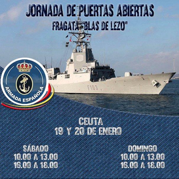 Fragata Blas de Lezo jornada de puertas abiertas en Ceuta