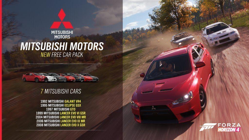 Pack gratuito coches Mitsubishi  Forza Horizon 4