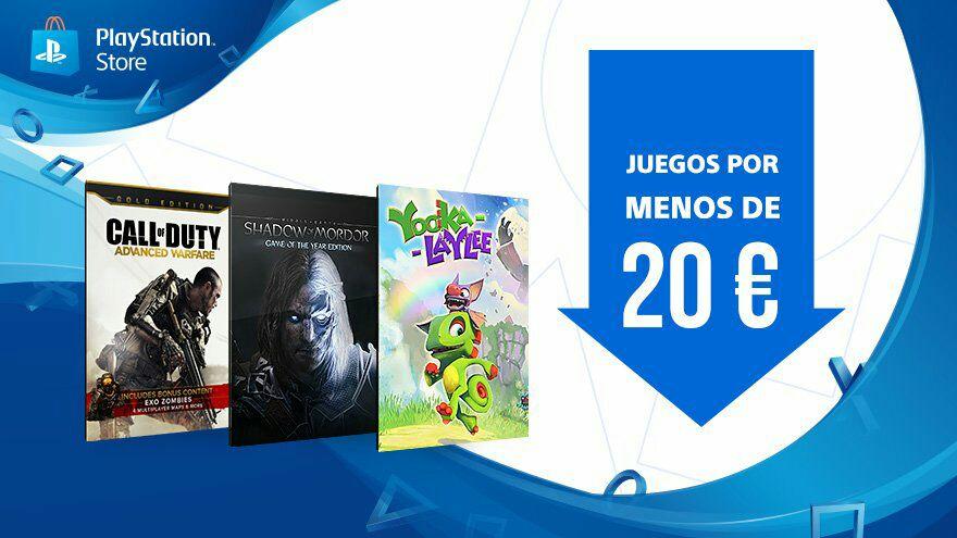 JUEGOS PS4 POR MENOS DE 20€