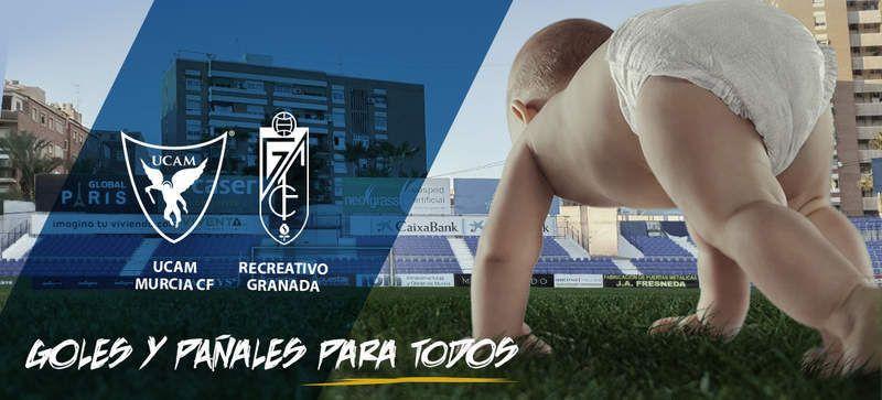 Futbol 2B 1 Entrada por Pañales  Ucam Murcia -Recreativo Granada