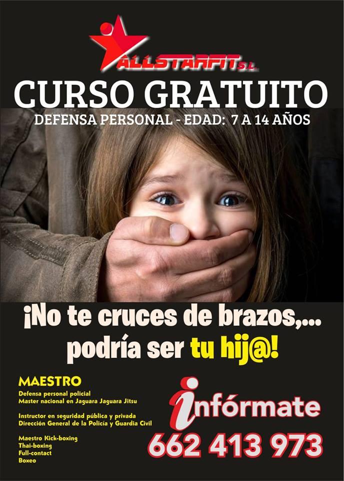 Curso gratuito defensa personal para menores en Sevilla