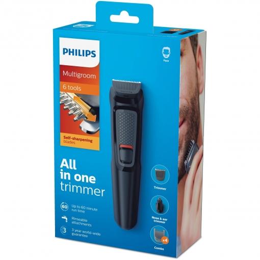 Multigroom Philips MG3710/15 (barbero, pelos nariz y oído)