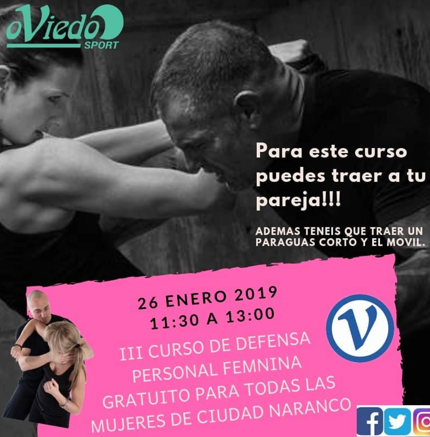 Oviedo (26 de enero): Curso de defensa personal femenina (GRATIS)