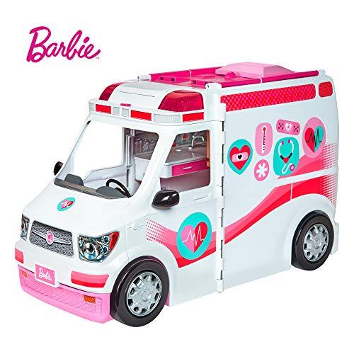 Barbie Ambulancia hospital 2 en 1, accesorios de muñecas