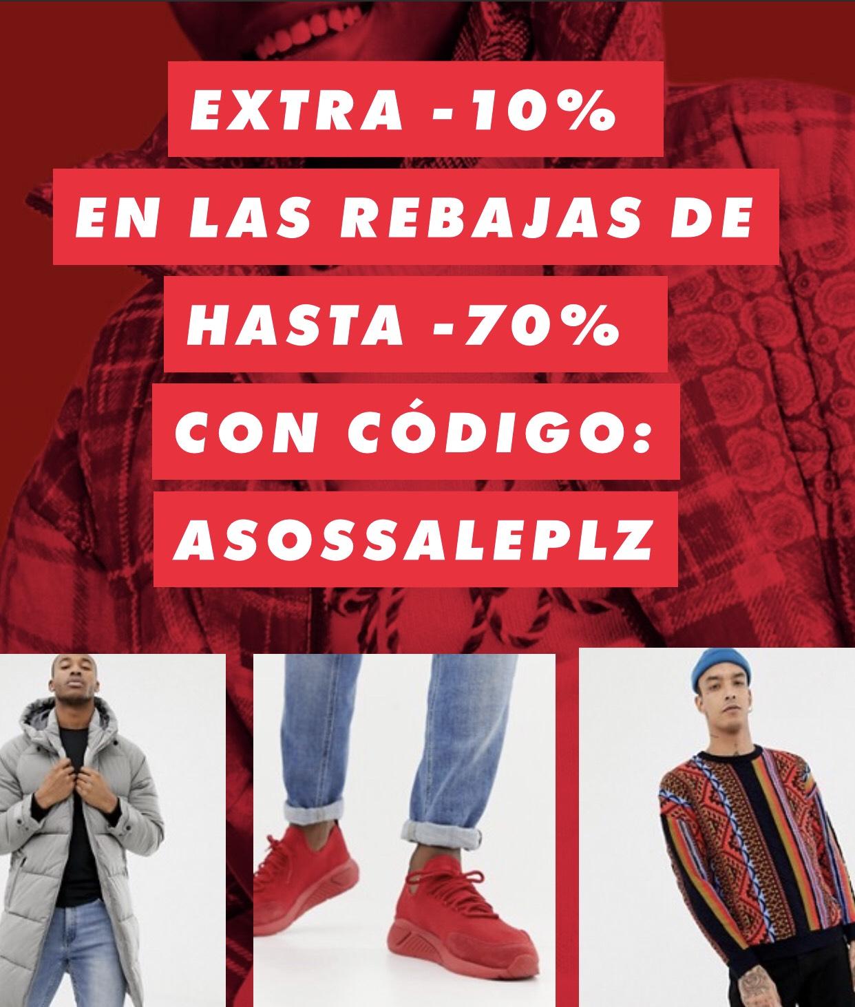 ASOS hasta el 70%+10%Extra