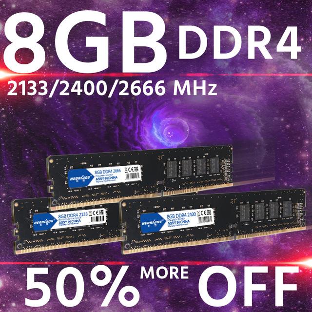 8GB Ram DDR4 2666 MHz CL16.