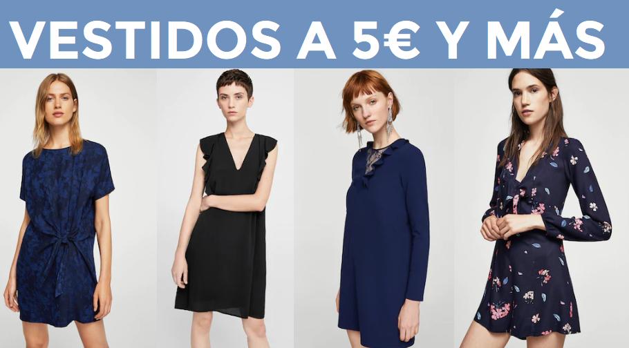 Selección de vestidos a 5€ en Mango Outlet