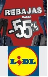 Rebajas hasta 55% en Moda Lidl