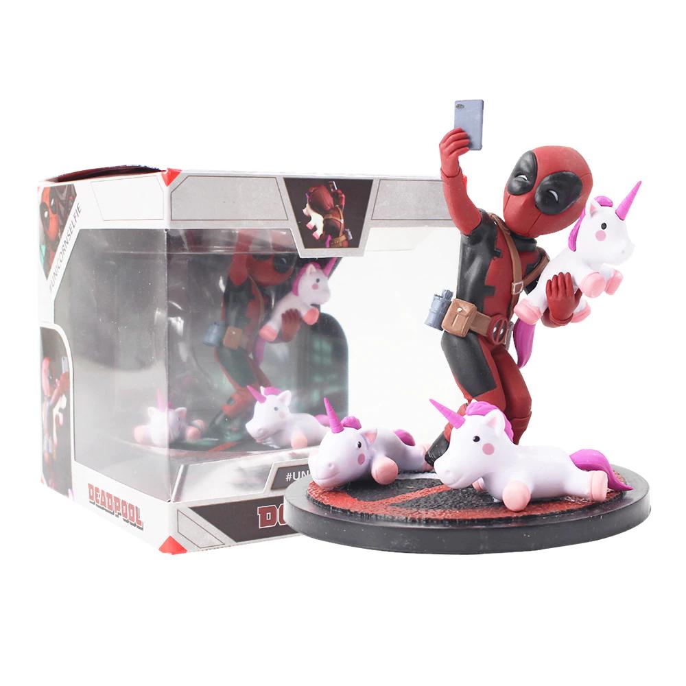 Figura molona de Deadpool con unicornios  (13cm, de figura...)