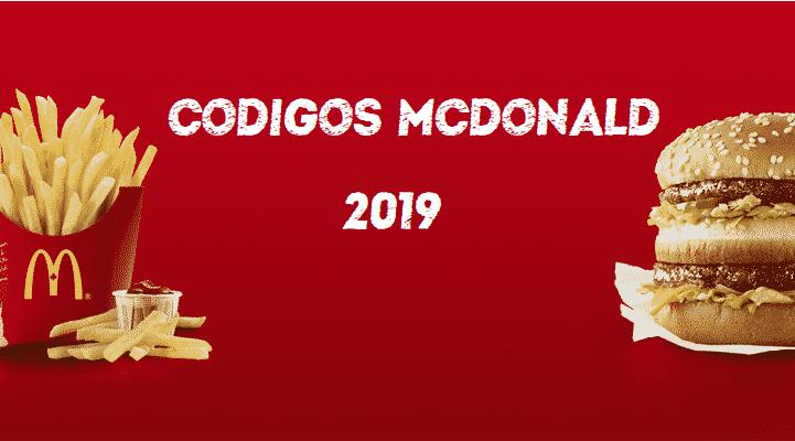 CODIGOS MCDONALD'S 2019