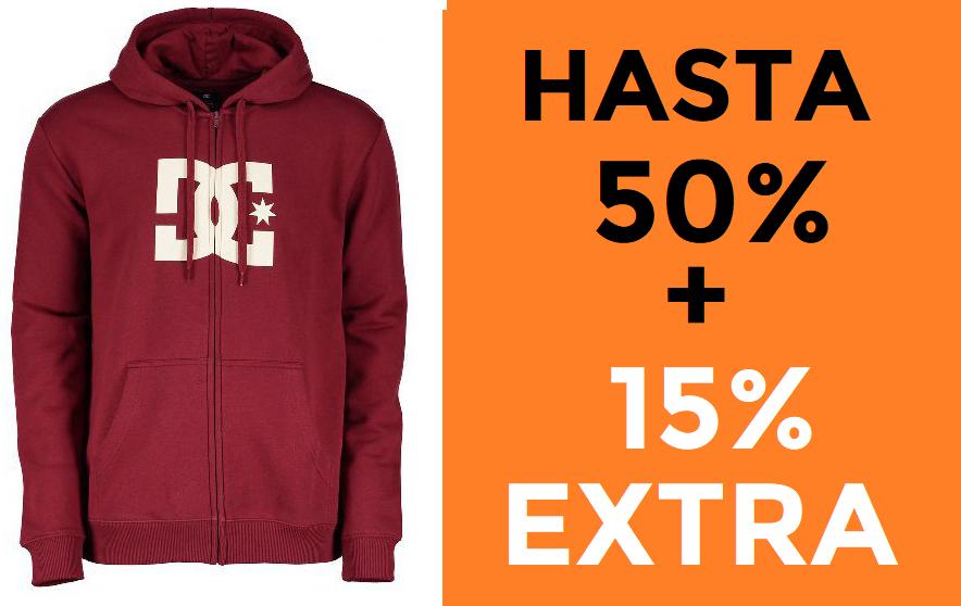 50%+15% EXTRA en DC y Roxy