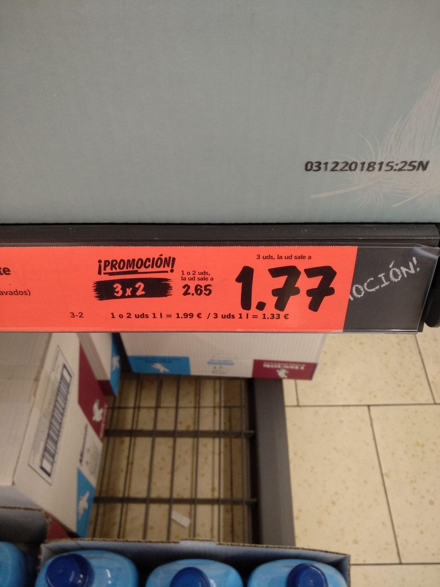 Suavizante Mimosin 58 lavados. 1,33€  Litro.