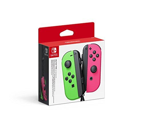 Set De Dos Mandos Joy-Con, Color Verde Neón / Rosa Neón (Nintendo Switch)