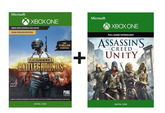 PlayerUnknown's Battlegrounds (PUBG) Xbox One  + Assasin's creed Unity